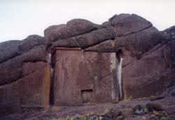 The Aramu Muru Doorway near Lake Titicaca, Peru