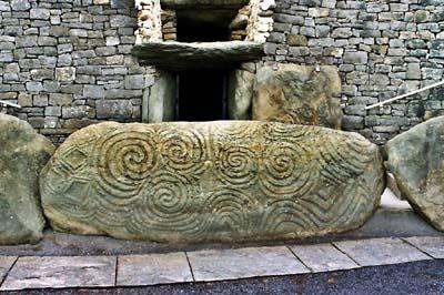 Newgrange spiral stone