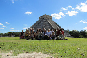 Chichen Itza with group