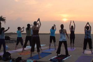 Day 2-yoga on beach