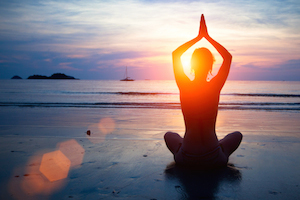 yoga on the beach-Marari - web